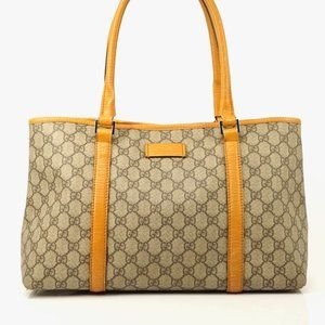 Auth Gucci Gg Shoulder Brown Leather #3728G15